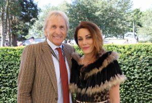 Ruba Jurdi with Derek Bell at Goodwood Revival Meeting 2016